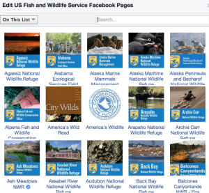 List of USFWS pages